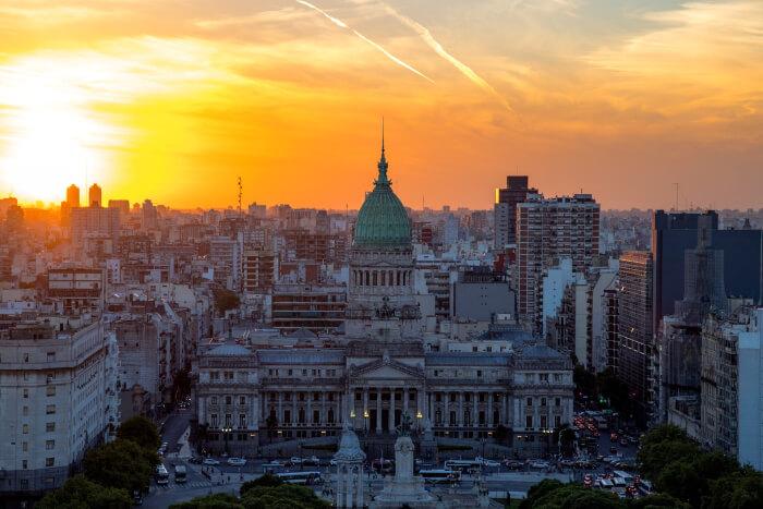 Buenos Aires ao entardecer