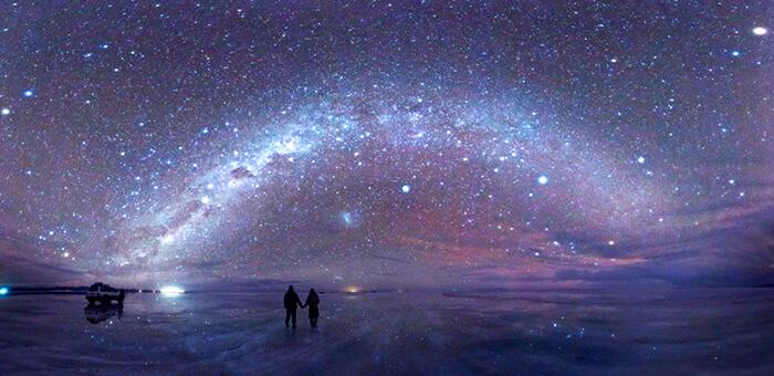 Noite no Salar de Uyuni