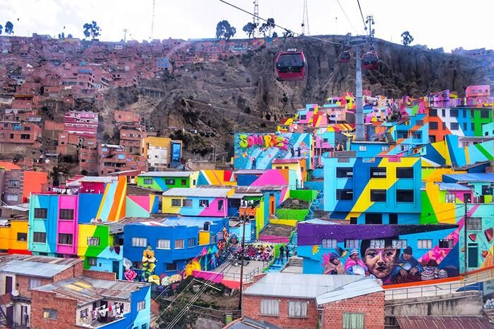 Teleférico e Graffitis em La Paz