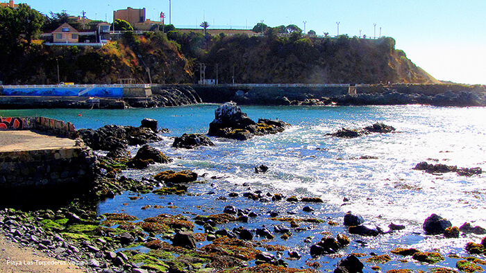 Playa de Las Torpederas em Valparaíso no Chile